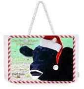 Christmas Cow Greeting Weekender Tote Bag