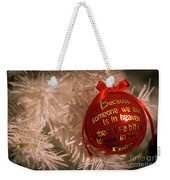 Christmas Decor Weekender Tote Bag