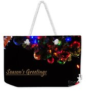 Christmas Decoration Greeting  Weekender Tote Bag