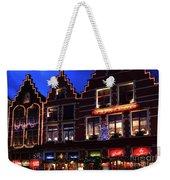 Christmas Decorations On Buildings In Bruges City Weekender Tote Bag
