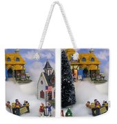 Christmas Display - Gently Cross Your Eyes And Focus On The Middle Image Weekender Tote Bag