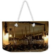 Christmas Eve In Brown And Gold  Weekender Tote Bag