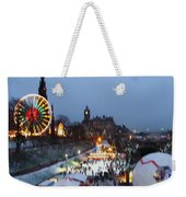 Christmas Fair Edinburgh Scotland Weekender Tote Bag