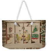 Christmas Fireside Weekender Tote Bag