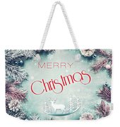 Christmas Greeting Card, By Imagineisle Weekender Tote Bag