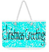 Christmas Greetings Snow Weekender Tote Bag