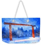 Christmas In The Mountains Weekender Tote Bag