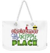 Christmas Is My Happy Place Weekender Tote Bag