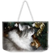 Christmas Kitty Weekender Tote Bag