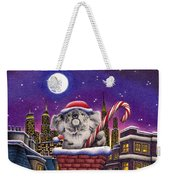 Christmas Koala In Chimney Weekender Tote Bag