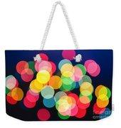 Christmas Lights Abstract Weekender Tote Bag by Elena Elisseeva