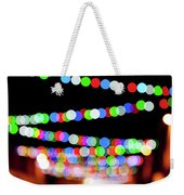 Christmas Lights Bokeh Blur Weekender Tote Bag