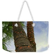 Christmas Lights On Palm Trees Weekender Tote Bag