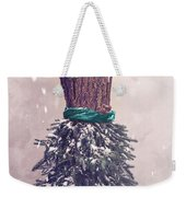 Christmas Mannequin Dressed In Fir Branches Weekender Tote Bag