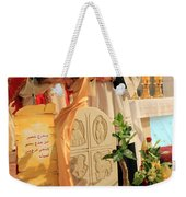 Christmas Mass Weekender Tote Bag