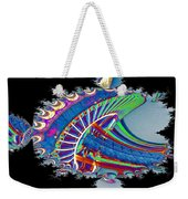 Christmas Needle In Fractal Weekender Tote Bag