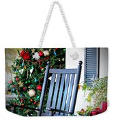 Christmas On The Porch Weekender Tote Bag