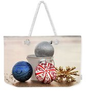 Christmas Ornaments On The Beach Weekender Tote Bag