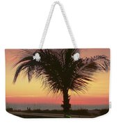 Christmas Palm Weekender Tote Bag
