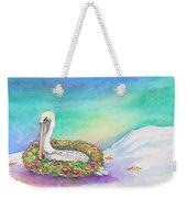 Christmas Pelican Weekender Tote Bag