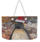 Christmas Penguin Weekender Tote Bag