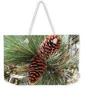 Christmas Pine Cones Weekender Tote Bag