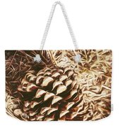 Christmas Pinecone On Barn Floor Weekender Tote Bag