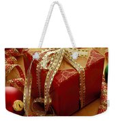 Christmas Present And Ornaments Weekender Tote Bag