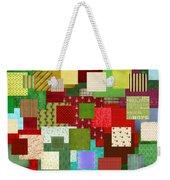 Christmas Quilt Weekender Tote Bag