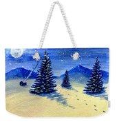 Christmas Snow Weekender Tote Bag