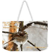 Christmas Sparrow - Christmas Card Weekender Tote Bag