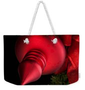 Christmas Tradition - Red Ornament And Ribbon Weekender Tote Bag