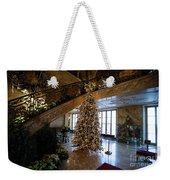 Christmas Tree And Staircase Marble House Newport Rhode Island Weekender Tote Bag