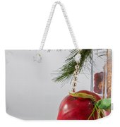 Christmas Tree Branch And Decoration In A Vase Weekender Tote Bag