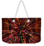 Christmas Tree Colorful Abstract Weekender Tote Bag