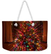 Christmas Tree Light Spikes Colorful Abstract Weekender Tote Bag