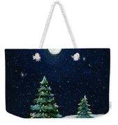 Christmas Trees In The Moonlight Weekender Tote Bag