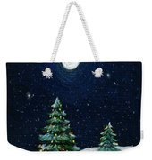 Christmas Trees In The Moonlight Weekender Tote Bag