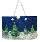 Christmas Trees In The Snow Weekender Tote Bag