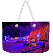 Christmas Trees Row And Frozen Lake View Weekender Tote Bag