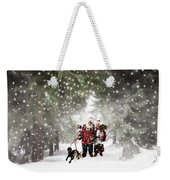 Christmas Walking Weekender Tote Bag