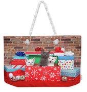 Christmas With Kittens Weekender Tote Bag