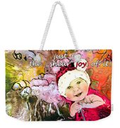 Christmas With My Sheep Weekender Tote Bag
