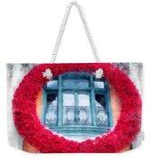 Christmas Wreath Old Quebec City Weekender Tote Bag