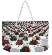 Christmas Wreaths Adorn Headstones Weekender Tote Bag