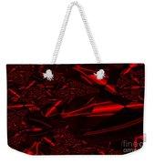 Chrome In Red Weekender Tote Bag