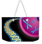 Chromosomes And Dna Double Helix Weekender Tote Bag