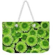 Chrysanthemum Green Button Pompon Kermit Weekender Tote Bag