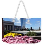 Chrysanthemums And Cirrus  Weekender Tote Bag