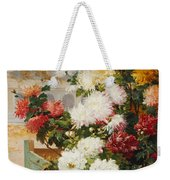 Chrysanthemums In A Walled Garden Weekender Tote Bag